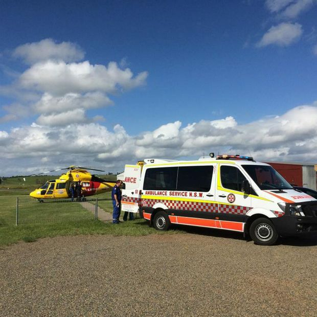 An 11-year-old boy was taken to Lismore after he was hit by a ute on Vere St.