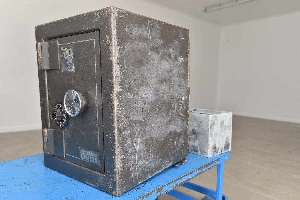 A safe, found in parkland off Boat Harbour Dr, at the Hervey Bay police station.