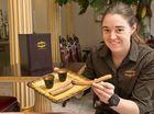 Cioccolato staff member Christine Cunliffe with scrumptious churros.