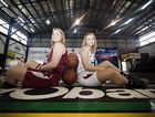 GROWING STRONGER: Kellie Page and Monique Stevens will be part of the improved Bundaberg Bears line up for the 2015 Queensland Basketball League season. Photo Contributed