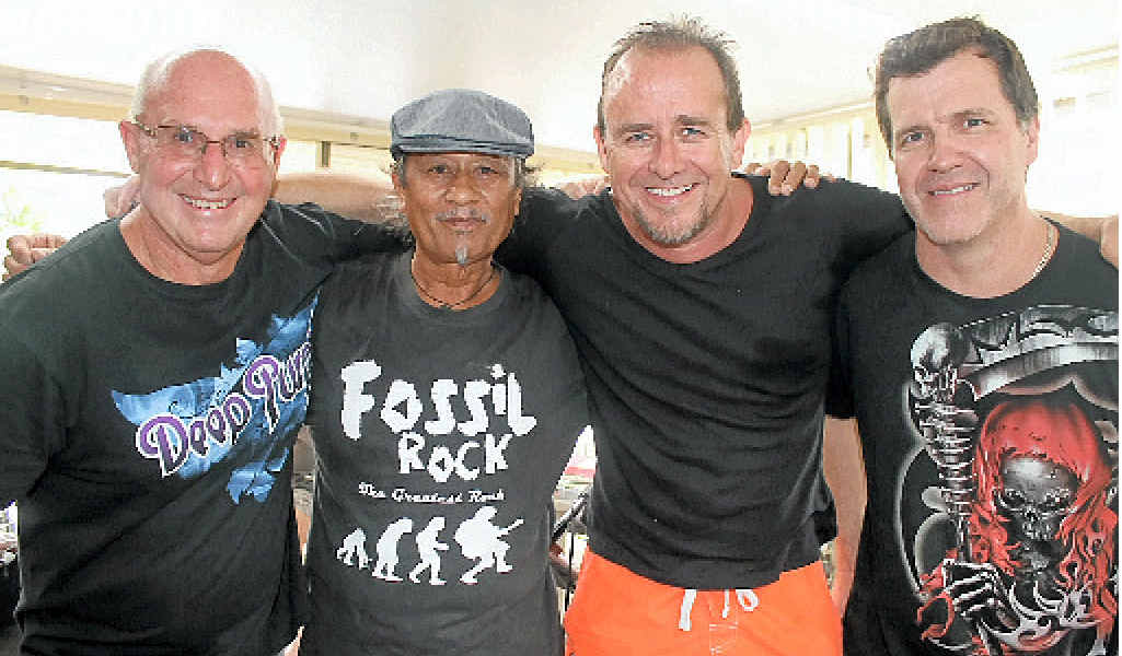 Local band Fossil Rock (from left) Garry Lavercombe, Joe Aleman, Jeff Massey and Paul Gill have reformed for three gigs.