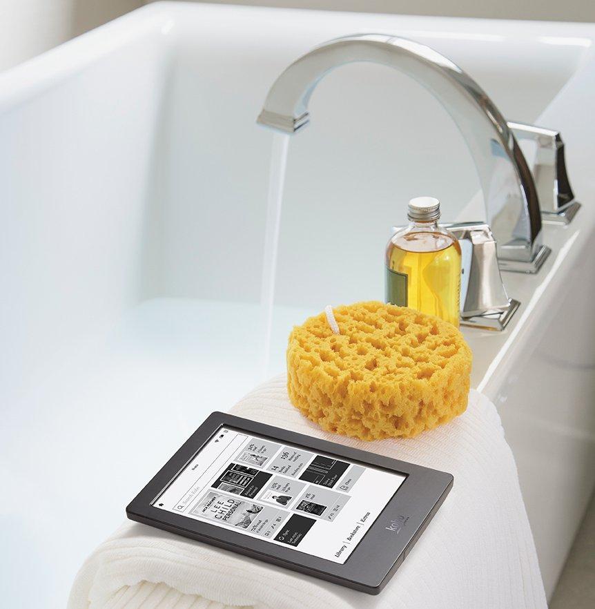 Kobo Aura H2O, the world's first premium waterproof E Ink eReader.