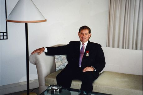 Former Lismore man Jeffery Brackenrig with his Star of Courage award in 1995.