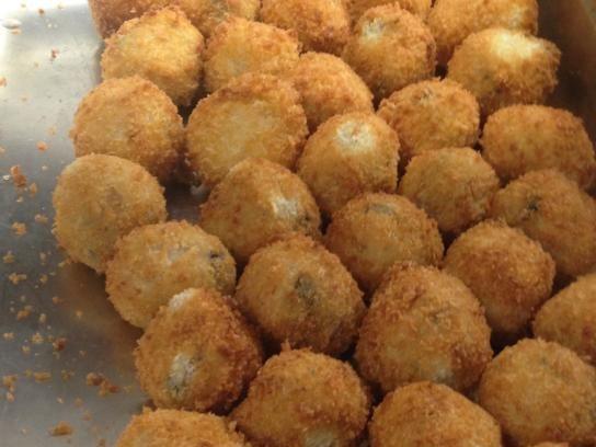 The Grand Hotel's Mushroom Arancini Balls.