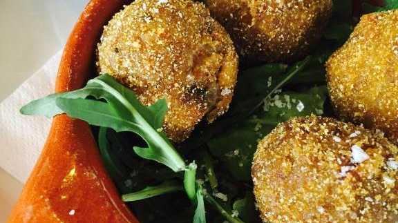 Rocksalt's Mushroom Arancini.