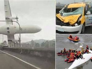 26 dead after plane hits bridge, crashes in Taiwan