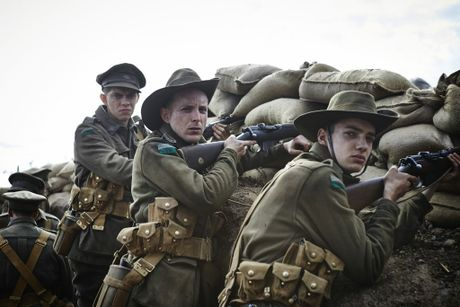 Harry Greenwood, Tom Budge and Kodi Smit-McPhee in Gallipoli.