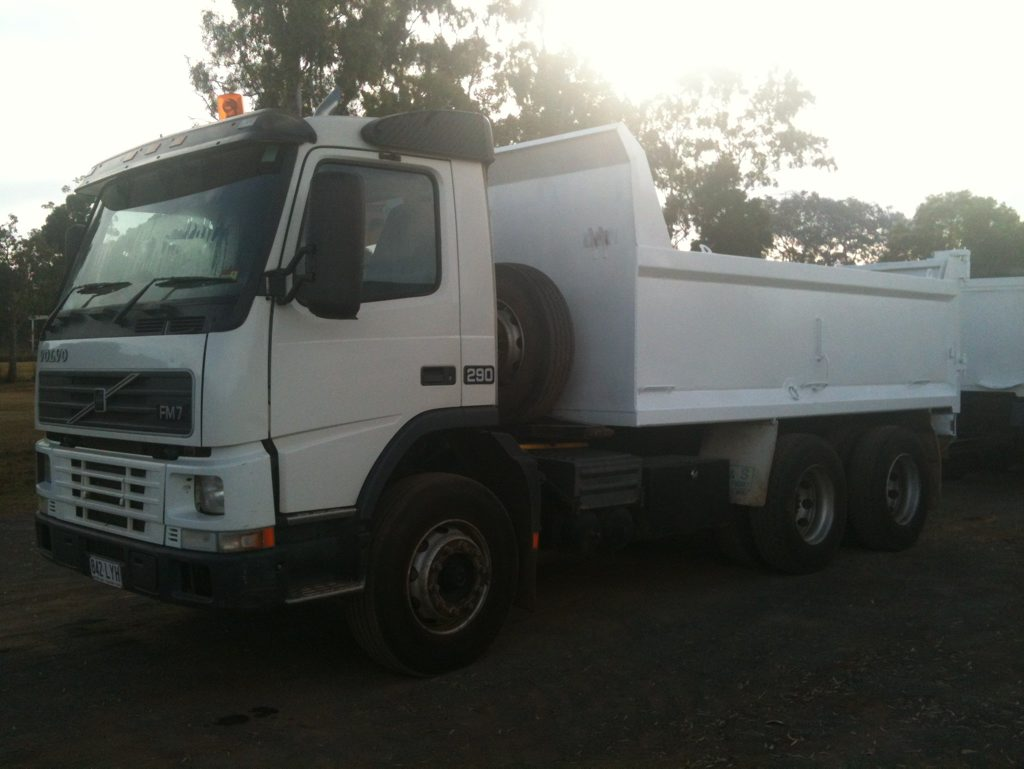 A Volvo truck stolen from a Harristown earthmoving comapny has been recovered south of Millmerran.