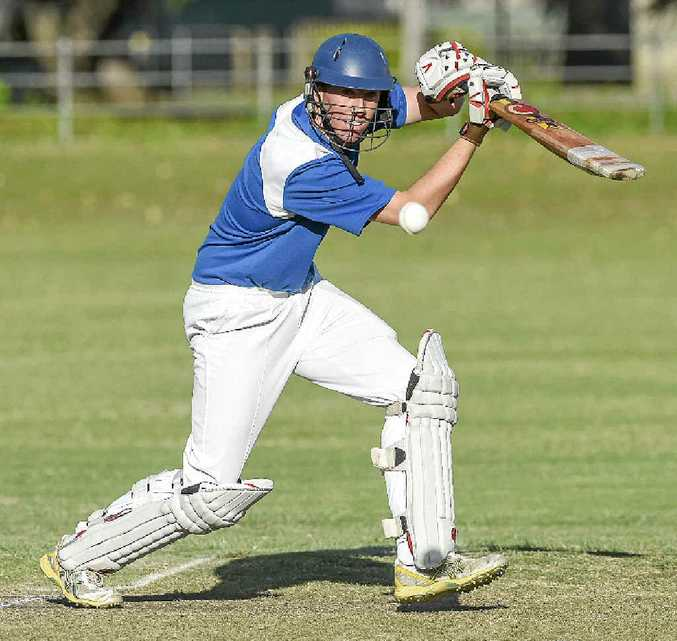 IN FRONT: Ben McMahon top scored with 33 in Harwood's Cleavers Mechanical Night Cricket loss to Coutts Crossing at McKittrick Park on Wednesday. The 19-year-old leads the Clarence River Premier League top run-scoring list with 433 at an average of 54.13.