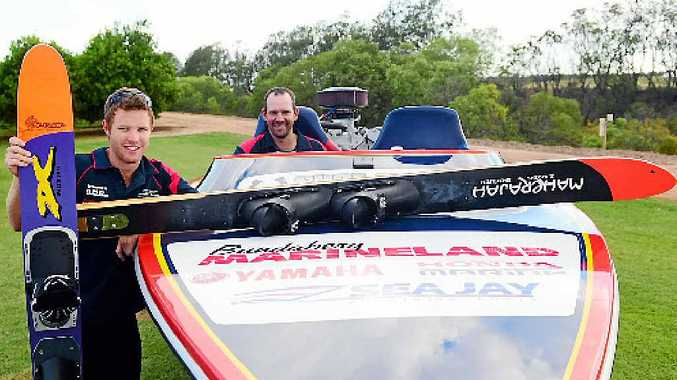 TOUGH TASK: Adam Forgacs and Jason Loeskow will be among 900 competitors in the 2015 Club Marine Southern 80 water ski race.