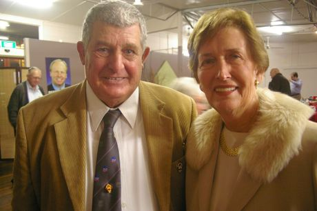 Childers Labor party branch Vice President Ray Dilger with former Member for Bundaberg 1998-2006 Nita Cunningham at the Childers Labor branch's 80th in 2005.