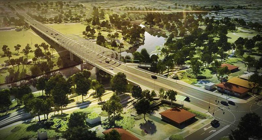An artist's impression of the proposed Norman St Bridge.