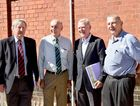 David Meiklejohn, Federal MP Warren Truss, Professor Lester Peters and John Sinclair at the Maryborough Walk of Achievers plaque unveiling.