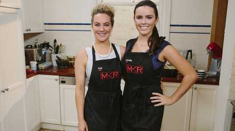 Ash and Camilla pictured during their instant restaurant in Melbourne.