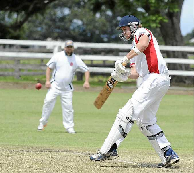 IN THE RUNS: Rowan Green scored 36 against GDSC Easts at Ulmarra Showground on Saturday. Green is South Services' leading run scorer in Premier League this season with 212. PHOTO: DEBRAH NOVAK