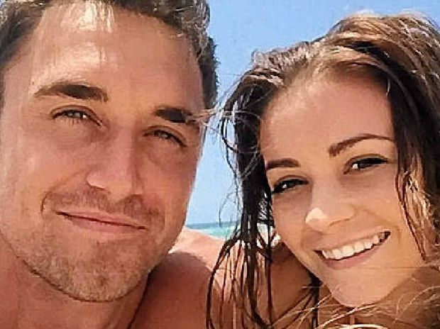 CELEBRITY COUPLE: The Bachelor runner-up Lisa Hyde with her new boyfriend Tyson Mayr who is staring in I'm A Celebrity...Get Me Out of Here!
