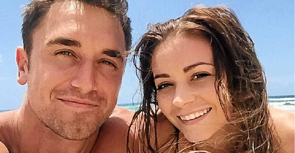 CELEBRITY COUPLE: The Bachelor runner-up Lisa Hyde with her new boyfriend Tyson Mayr who is staring in I'm A Celebrity ... Get Me Out of Here!