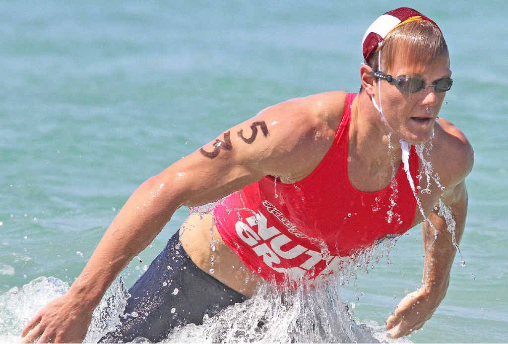 IMPRESSIVE CAMPAIGN: A second in yesterday's Surf Ironman Qualifying Series at Burleigh has secured Mooloolaba's Hayden White entry into the elite series. INSET: Kirsty Higgison.