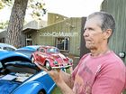 BEETLES GALORE: Robert Gimm brought along his VW Beetle toy car.