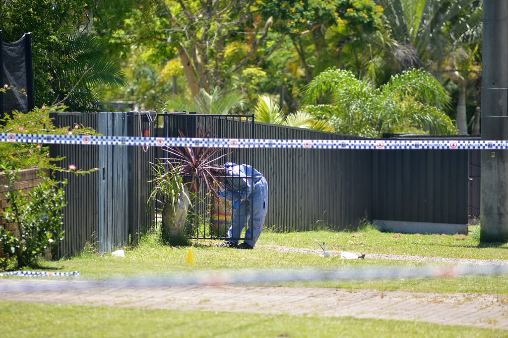 Police at the scene in Ningi where a womans body was found in Sunny Court. Photo: Warren Lynam / Sunshine Coast Daily