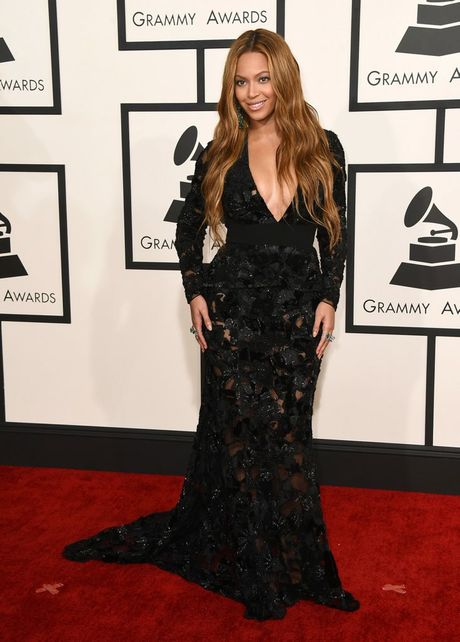 Beyonce arrives at the 57th annual Grammy Awards in Los Angeles.