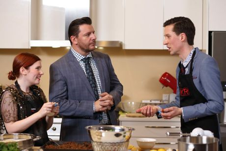Annie and Lloyd get a visit from Manu Feildel in the kitchen.