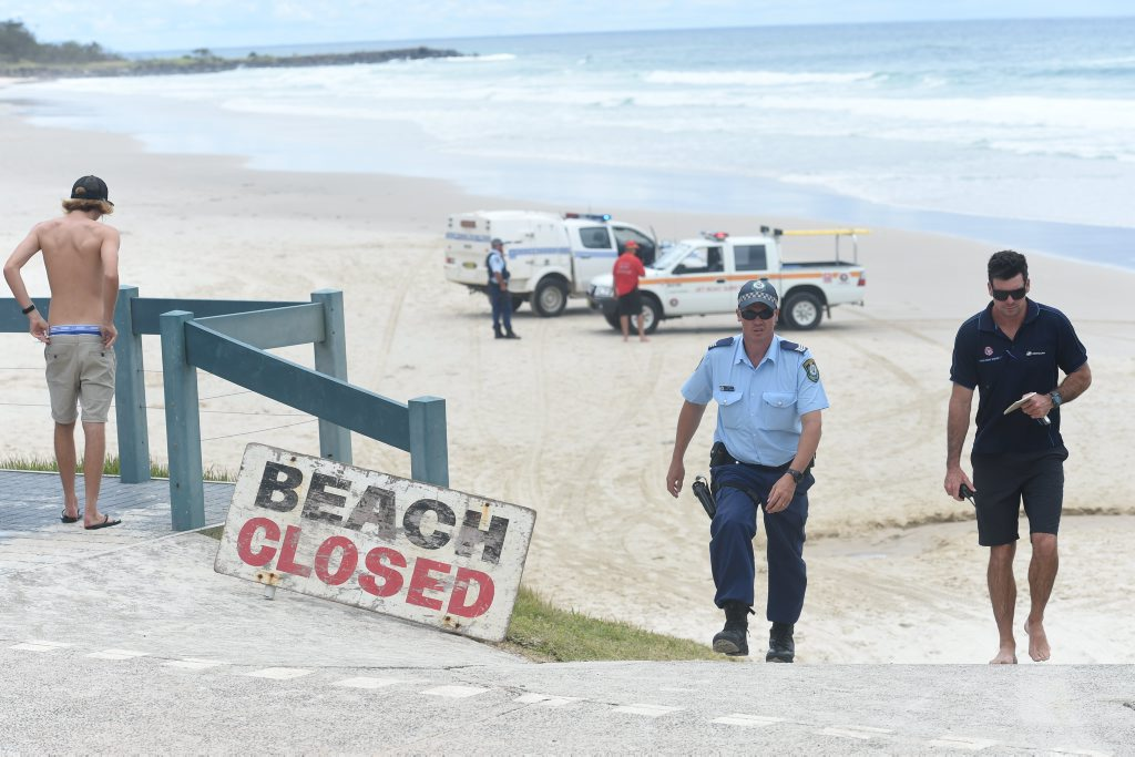 Shelly Beach in Ballina was closed after a Japanese national died in a shark attack.