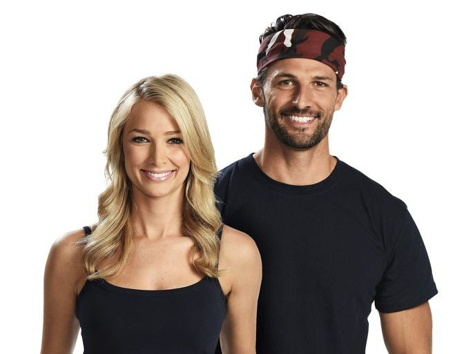 I'm A Celebrity... Get Me Out of Here! intruders Anna Heinrich and Tim Robards.