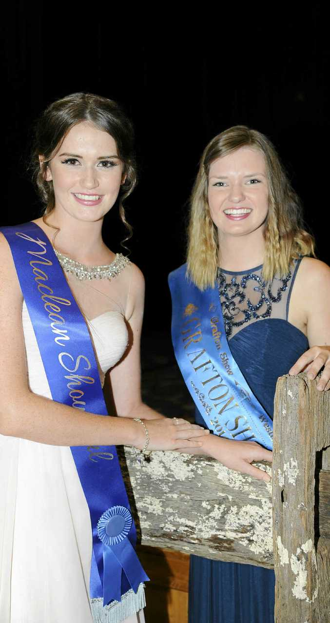LOCAL FLAVOUR: Maclean Showgirl Melissa Stains and Grafton Showgirl JoJo Newby at the Zone 1 finals of The Land Sydney Royal Showgirl 2015. PHOTOS: DEBRAH NOVAK