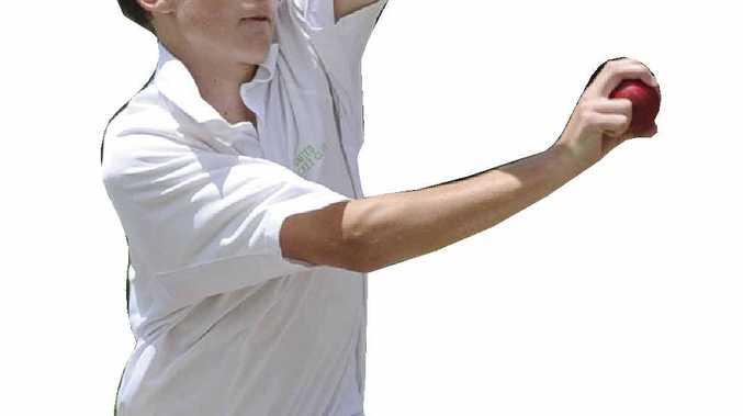 Maclean United bowler Nathan Anderson.