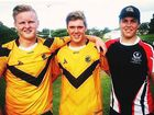 TOP WORK: Rowan Jardine, Matt Moessinger and Callum McClay will line up with the U16 Sunshine Coast Falcons for the Cyril Connell Cup.