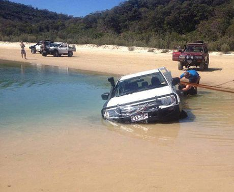SWAMPED: A driver got caught in the lagoon at Double Island Pt in 2014.