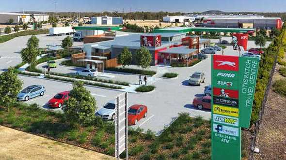TAKING SHAPE: An artist's impression of the $15 million truck stop approved for Stage 1 of Citiswich Business Park at Bundamba.