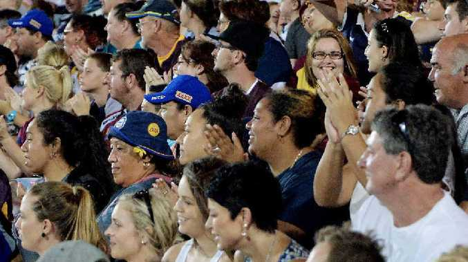 A capacity crowd of 8000 packed into Stadium Mackay for the pre-season match between the NQ Cowboys and Brisbane Broncos on Saturday night.