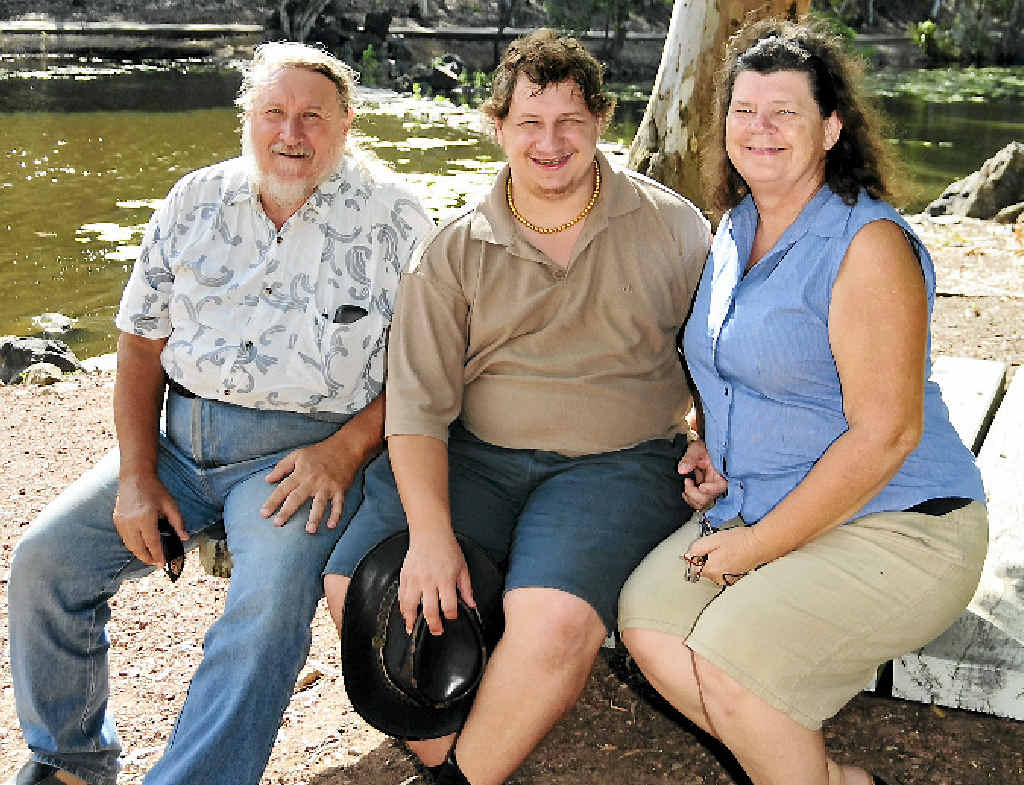 FLYING THE NEST: Lez, David and Gaye Collins are preparing for the rollout of the NDIS.