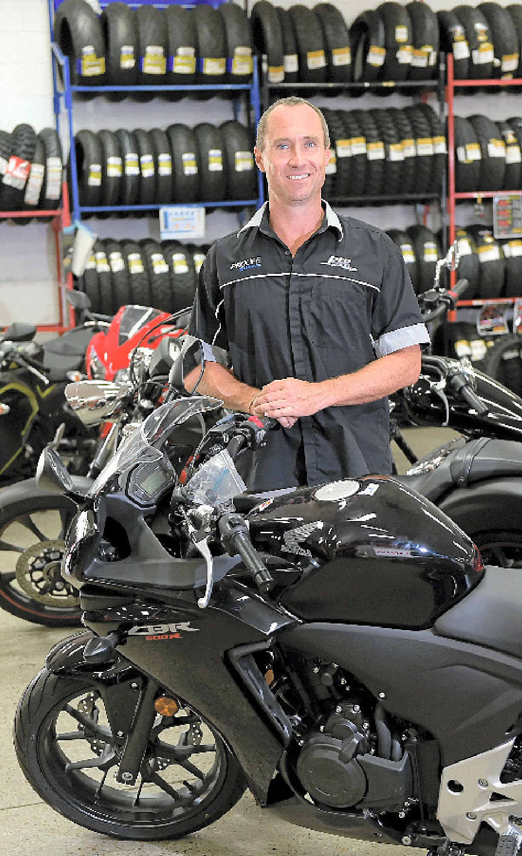 GREAT MOVE: Paul Peterson, owner of Pro Motorcycles at Kunda Park, welcomes the new motorcyclist laws including the legalisation of lane filtering.