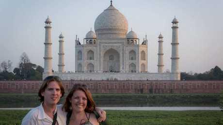 Tom Willams and Meagen Collins at Taj Mahal.