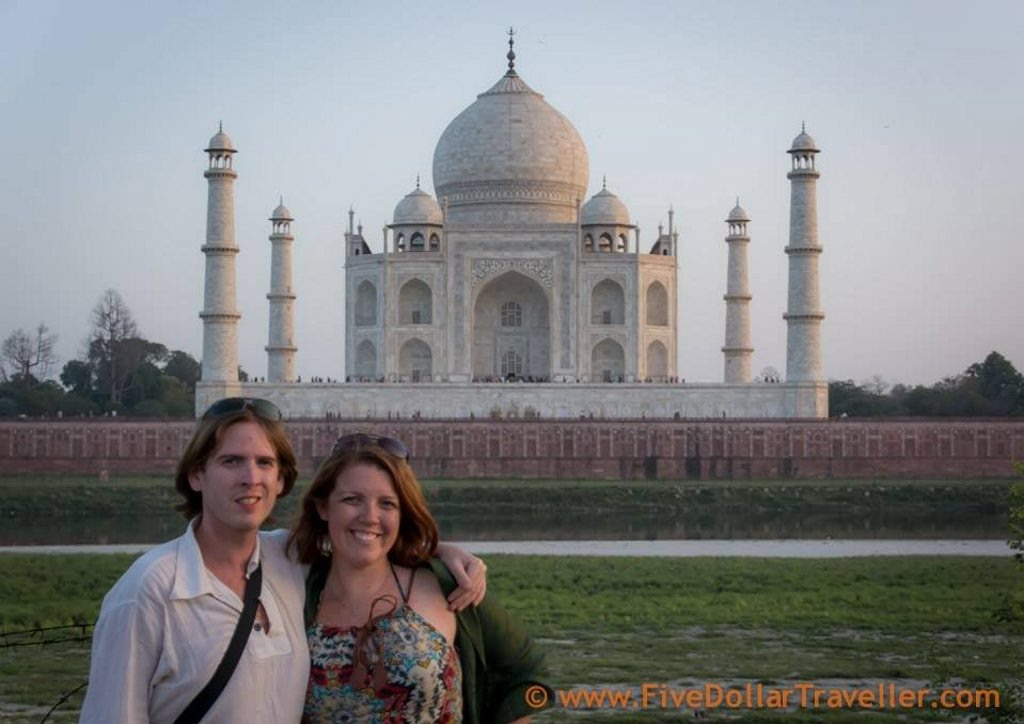 Tom Willams and Meagen Collins at Taj Mahal.