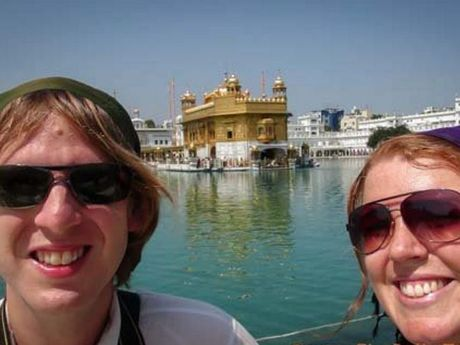 Tom Willams and Meagen Collins at Amritsar.