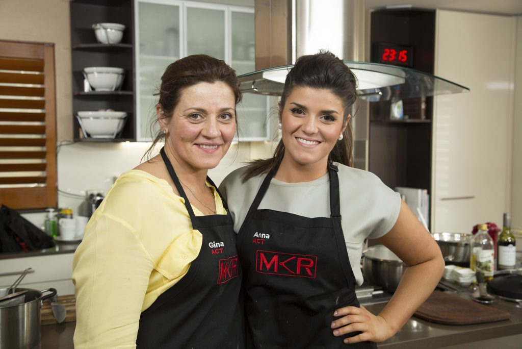 Gina and Anna pictured during their instant restaurant in Canberra.