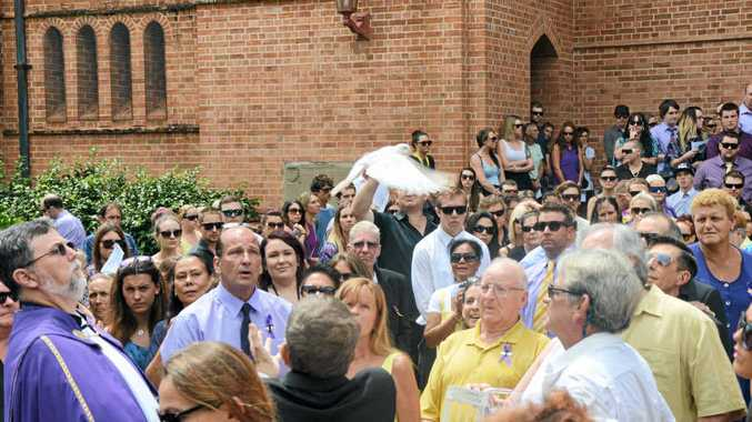 OUTPOURING OF GRIEF AND ADMIRATION: A sea of purple and yellow worn in Tracey-Lee Schuhmacher's honour flooded the Christ Church Cathedral as friends and family farewelled their much loved daughter, sister, aunt and friend.