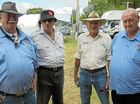 BACK TOGETHER: Some ex-Western Transport drivers enjoying the get together (from left) Peter Brownlie, John Farnham, Vern Chardon, Ross Brownlie at the Allora Heritage weekend held on the Australia Day long weekend.