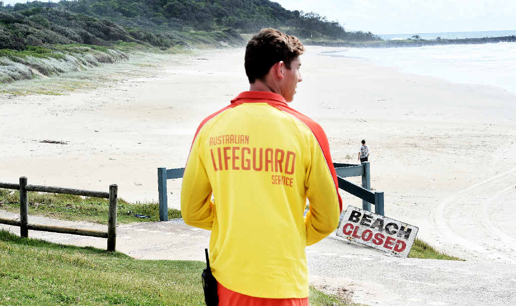 NO-GO ZONES: The beaches between Shelly Beach and Lennox Head remain closed after Monday's fatal shark attack.