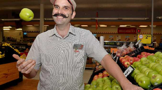 Barry Hartley has worked at the Sydney St Markets Coles store for 20 years.