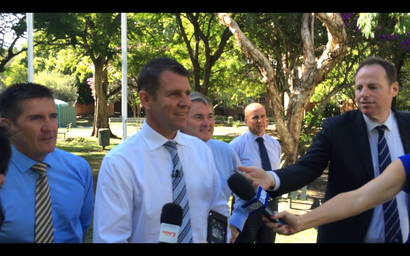 NSW Premier Mike Baird at Ballina High.