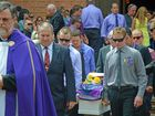 A sea of purple and yellow, worn inTracey-Lee Schuhmacher's honour, flooded the Christ Church Cathedral as friends and family farewelled their much loved daughter, sister, aunty and friend. February 10, 2015. Photo Georja Ryan / Daily Examiner