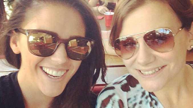 CATCH-UP TIME: Courtney Musk and Sasha Ryan just weeks before Sasha made the big move to Gladstone.