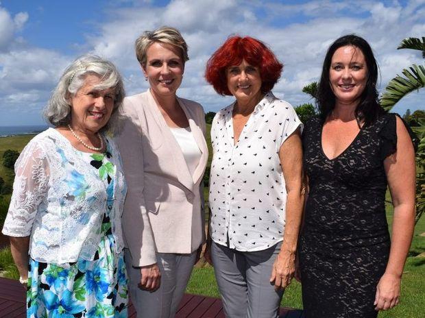 WOMEN'S DAY: Byron Councillor Diane Woods, Federal MP Tanya Plibersek, Byron Councillor Rose Wanchap with Women's Day organiser Jodie Molloy.