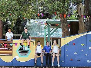 School cuts ribbon on new adventure boat playground