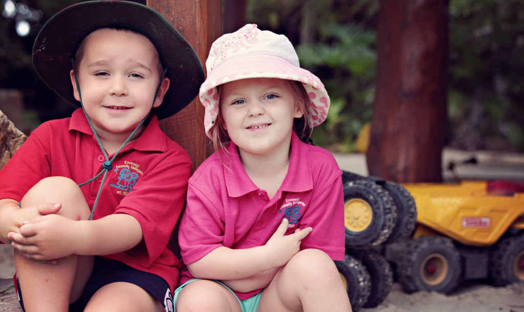 BEST BUDS: Jye Hartwell and Hayley Waldron think they have love all sorted out at the wise ages of almost-four.